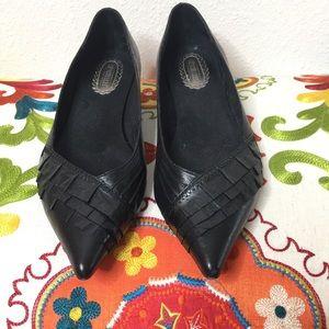 Seychelles Black kitten heels GC size 8
